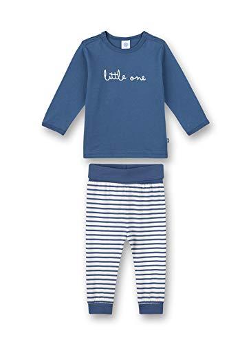 Sanetta Baby-Jungen lang blau Kleinkind-Schlafanzüge, Ink Blue, 086