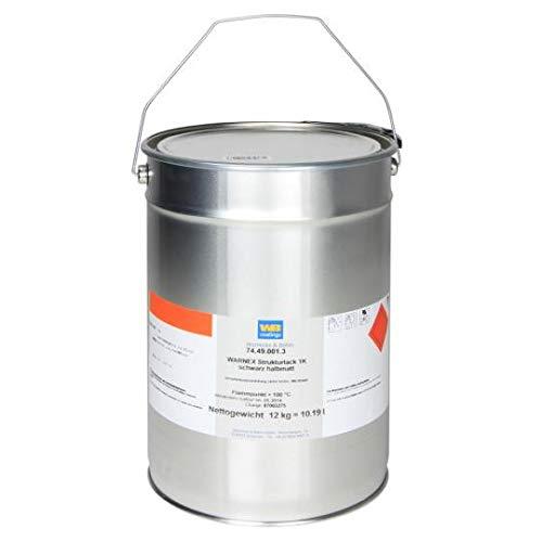 Warnex 013112 Strukturlack schwarz 12 kg