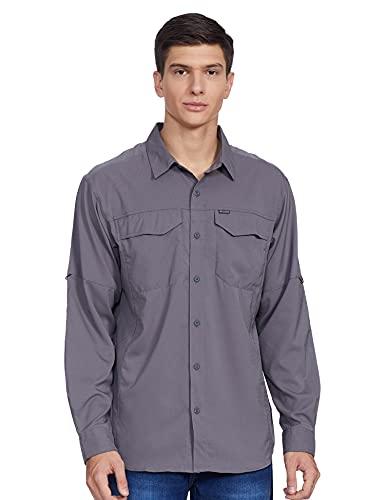 Columbia Mens Silver Ridge Lite Long Sleeve Shirt City Grey Large