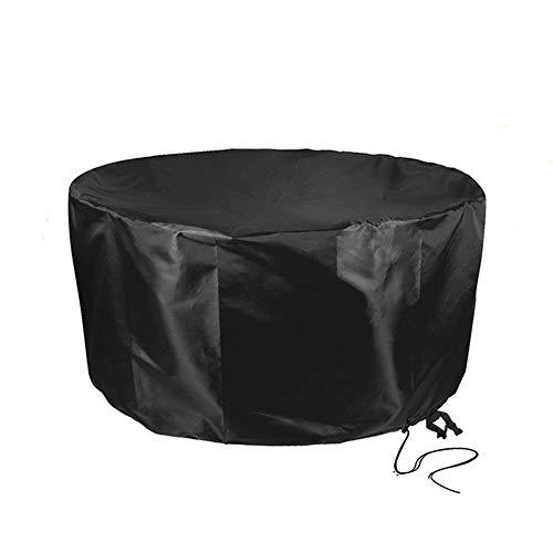 Cubierta de Muebles de jardín Patio con Mesa Redonda Lona de protección al Aire Libre Impermeable A Prueba de Polvo Four Seasons Universal 25 tamaños, 2 Colores (Color : Negro, Size : 60x60cm)