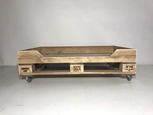 Palettenmöbel, Hundebett in Palettenoptik Vintage gebeizt und in Handarbeit hergestellt
