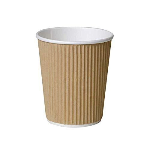 500 x Kraft 8 Ounce Ripple 3 Ply wegwerp geïsoleerd papier bekers voor thee koffie Cappuccino warme dranken