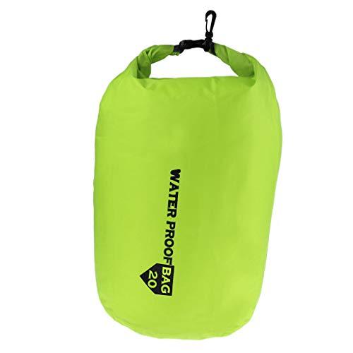 dailymall Bolsa Seca Impermeable Almacenamiento Camping Rafting Kayaking Saco de Compresión - Verde Claro, 70L