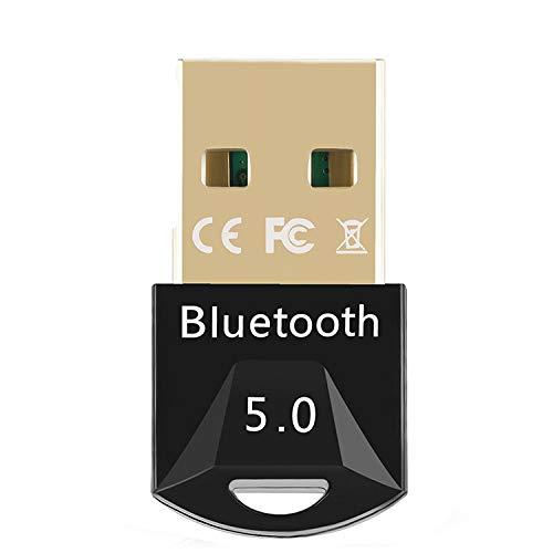 YSINOBEAR Adaptador USB Bluetooth 5.0 para ordenador de ordenador, teclado inalámbrico PS4, receptor de audio Bluetooth