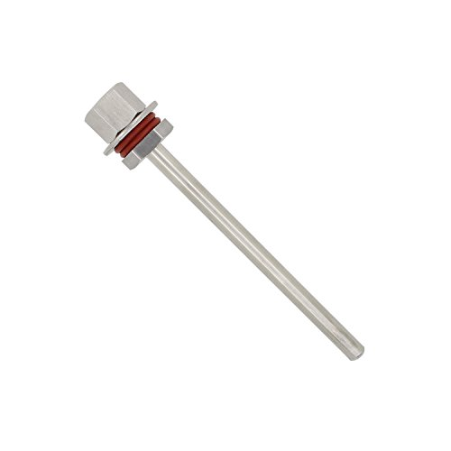 1/2 pollice - pozzetto per sonda termometro sensor acciaio montaggio rapido inossidabile 304 immersione di 30 50 100 200 300 400 500mm (300mm)