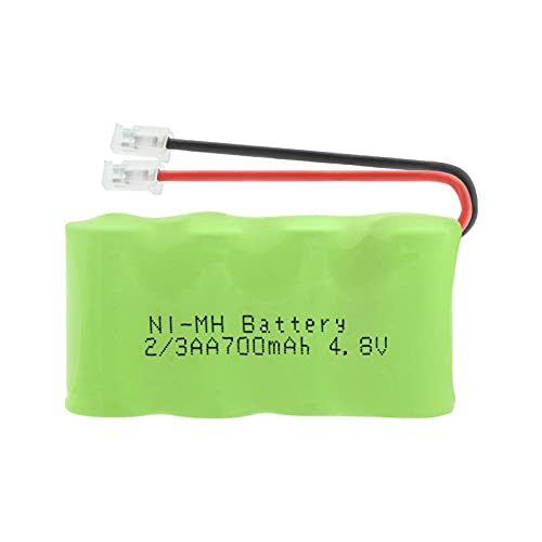 RitzyRose Batería Ni-MH AA de 4,8 V, 700 mAh, conector universal para paquete de baterías recargables
