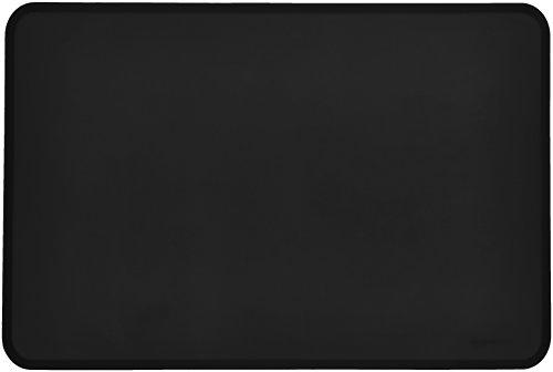 Amazon Basics Tapis de gamelle en silicone étanche pour animaux de compagnie - 60 x 41 cm, Noir