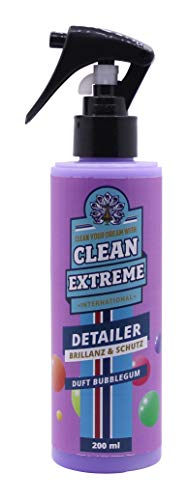 CLEANEXTREME Auto Detailer Bubblegum Duft 200 ml - Waschen ohne Wasser: Antistatisch, schmutzabweisend, Wasser perlt hervorragend ab