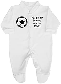 BORN TO BE A MILLWALL SUPPORTER DADDY,GRANDAD,UNCLE BABYGROW BODYSUIT FOOTBALL