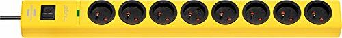 Hugo! Brennenstuhl Mehrfachsteckdose, mit 8Steckdosen, 2m Kabellänge, H05VV-F 3G1,5,mit Überspannungsschutz, 19,5 A, gelb, 1150611368