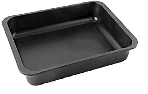 Zenker Ofenbackform (40 x 6 x 29 cm) SPECIAL COOKING, rechteckige Ofenform mit Antihaftbebeschichtung, Backform mit extra hohem Rand (Farbe: Schwarz), Menge: 1 Stück