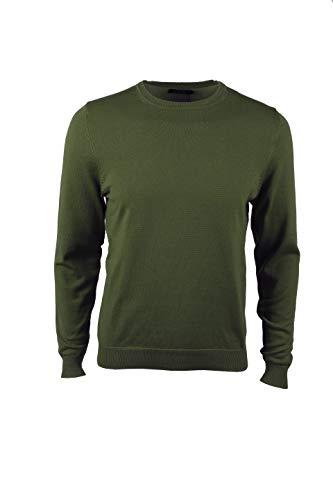 VELILLA Jersey De Punto Grueso De Cuello Alto Verde Caza L