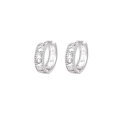 hkwshop Ohrringe für Frauen Neue Art Kupfer-Zirkonium-Buchstaben-Ohrringe Persönlichkeit Kupfer-Inline Zirkon-Ohrringe Diamant-Buchstaben-Ohrringe Ohrstecker (Type : K)