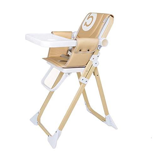 WYJW draagbare opvouwbare baby kinderstoel voor eten, peuter booster stoel voor eettafel met verwijderbare PU kussens en lade opvouwbare ruimte saver voeding stoel voor reizen (Kleur : GREEN)