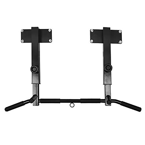 Review ZZZL Wall Mounted Pull Up Bar, Home Gym Power Tower Set Chin Up Station Fitness Dip Stand Hei...