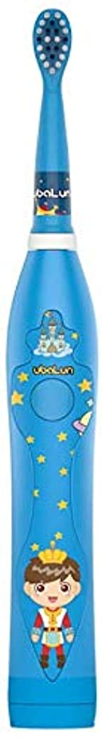振動させる磁石最大限USBと3-12歳の電動歯ブラシ柔らかい毛防水漫画柔らかい歯ブラシの充電式 Alysays