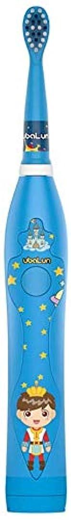 リットル受益者中間USBと3-12歳の電動歯ブラシ柔らかい毛防水漫画柔らかい歯ブラシの充電式 Alysays