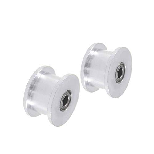 SANKUAI LT-3d, 2PCS XL Idler Pulley 16T Tooth Belt Idler Pulley Without Teeth Bore 3/4/5/6/7/8/9mm Width 11mm Synchronous Pulley Wheel (Color : 5mm, Size : 11mm)