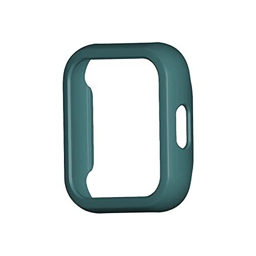 XUEMEI Estuche para MI Watch Lite Funda para Parachoques Cobertura De Cobertura Completa Cubierta De Protección De La Pantalla para El Reloj RealMe Accesorios De Reemplazo (Color : Green)