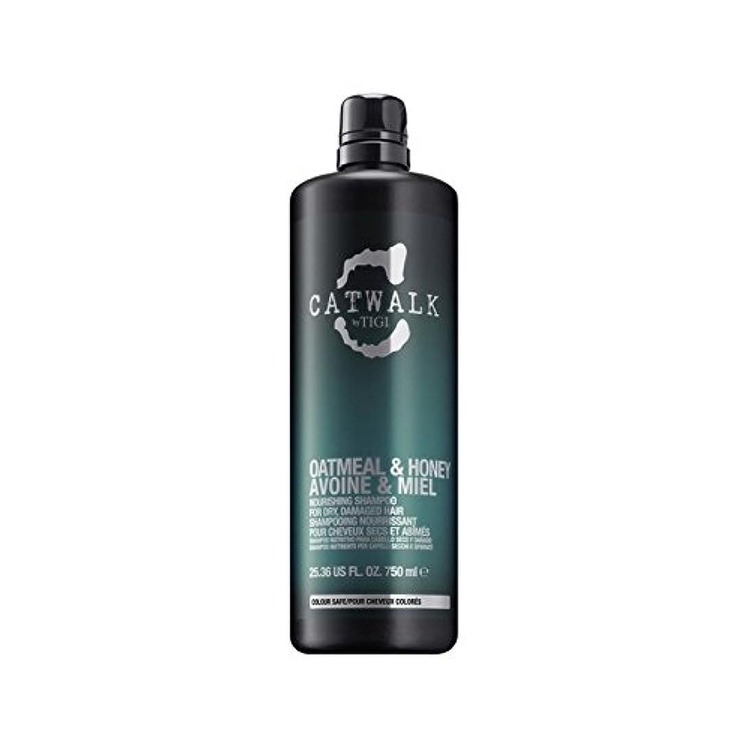 一取り囲むジャグリングティジーキャットウォークオートミール&ハニー栄養シャンプー(750ミリリットル) x2 - Tigi Catwalk Oatmeal & Honey Nourishing Shampoo (750ml) (Pack of 2) [並行輸入品]