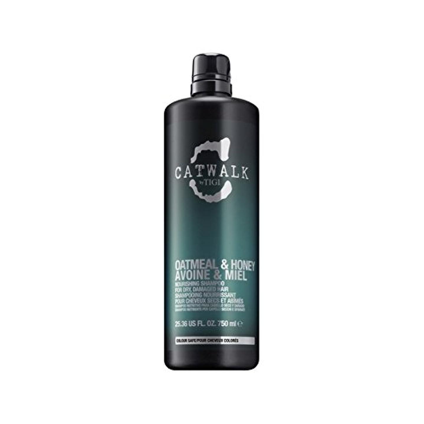 粗い嵐のグレードTigi Catwalk Oatmeal & Honey Nourishing Shampoo (750ml) (Pack of 6) - ティジーキャットウォークオートミール&ハニー栄養シャンプー(750ミリリットル) x6 [並行輸入品]