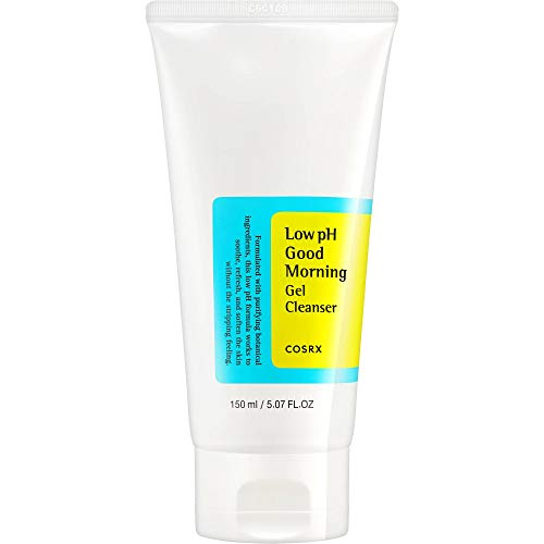 COSRX Low pH Good Morning Gel Cleanser, 5.07 fl.oz / 150ml   Mild Face Cleanser   Korean Skin Care for Acne Prone Skin, PH Balancing, Anti Acne, Breakouts Treatment