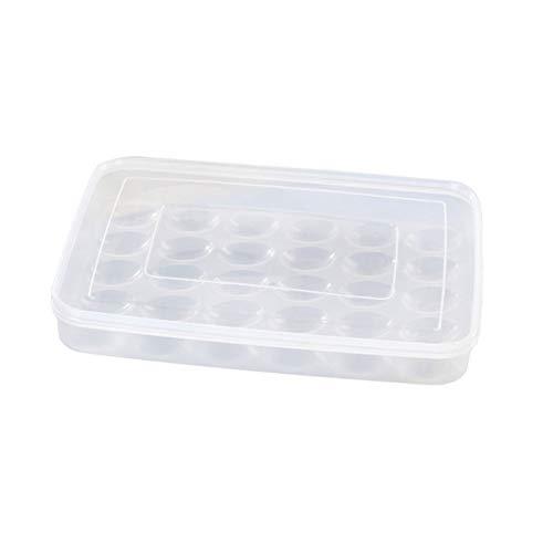 PerGrate - Contenitore per Alimenti per Uova impilabile, Grande capacità di Scatola per Uova, 30 per Frigorifero