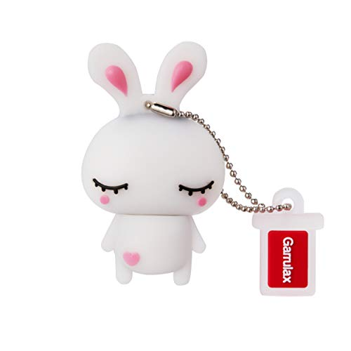 GARRULAX USB Flash Drive, 8GB / 16GB / 32GB USB 2.0 Silicone Cute Animal USB Memory Stick Date Storage Pendrive Thumb Drives (32GB, White Rabbit)
