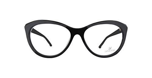 Swarovski SK5192F SK5192F-1-Schwarz Schmetterling Brillengestelle 56, Schwarz