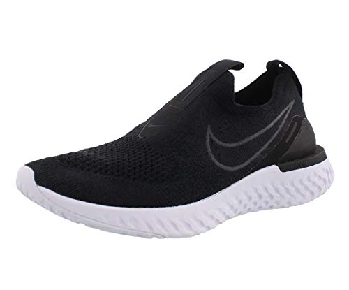 Nike Women's Epic Phantom React Flyknit Running Shoes (8, Black/Black-White)