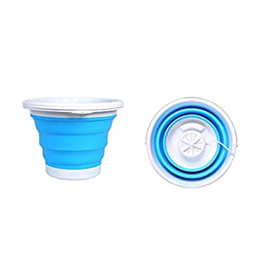 GYLJJ Mini Washing Machine, USB Folding Travel Camping Portable Mini Turbine Cleaning Equipment