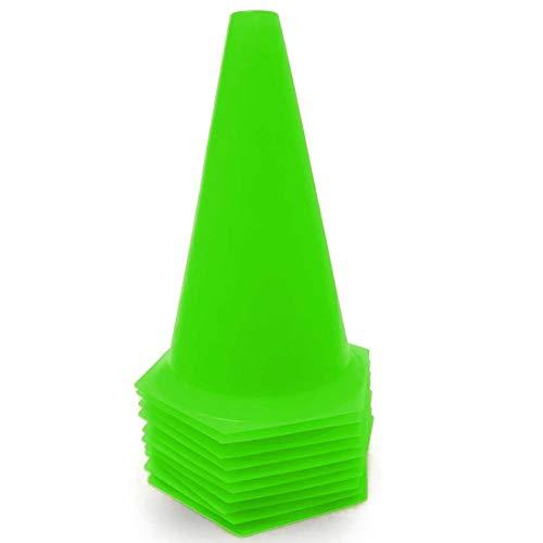AX Esportes Pack 10 Cones Rígidos p/ Treinamento, Limão, 23cm