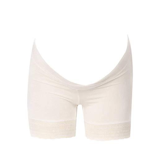 Huixin Maternity Lace Safety Pants sous De Grossesse Boxer Vêtements Vintage sous Shorts Confortables De Maternité Doux Dames Mode Slips Slips (Color : White (1Pcs), Size : 2XL)
