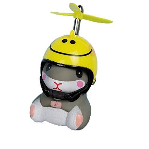 asdfwe Fahrradklingel, Air-Fahrrad-Horn Led-leuchten Propeller Lenker Bike Squeeze Hörner Für Kleinkind Kinder Erwachsene (Smiley Helm)