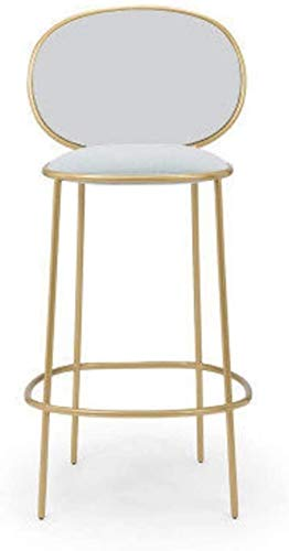 Taburetes de bar para restaurante de bar o restaurante simple casual dorado taburete alto hierro silla de comedor silla de bar europea (color: D)-E