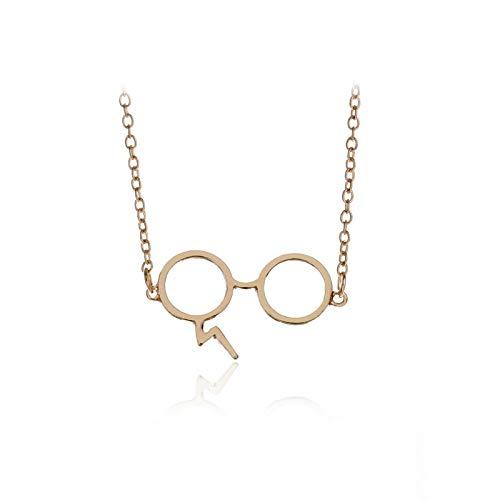 WYFLL Halskette mit Anhänger Harry Potter und kleiner Brille, Motiv: Geek-Narben, Blitz, europäischer und amerikanischer Film