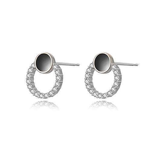 ZPEE Earring Sterling silver summer wild earrings women's high-end earrings compact and simple Women's Drop & Dangle Earrings (Color : B)