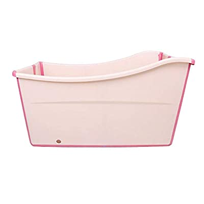 Weylan tec Freestanding Large Foldable Bath Tub Bathtub for Petite Adult Children Baby Toddler Pink