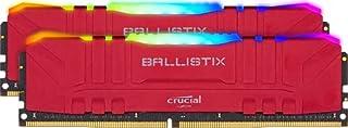 Crucial Ballistix Gaming Memory, 2x8GB (16GB Kit) DDR4 3600MT/s CL16 Unbuffered DIMM 288pin Red RGB, (PC4-19200), DDR4, BL2K8G36C16U4RL, Standard RGB: 16GB (8GBx2) (B083VMSWWJ) | Amazon price tracker / tracking, Amazon price history charts, Amazon price watches, Amazon price drop alerts