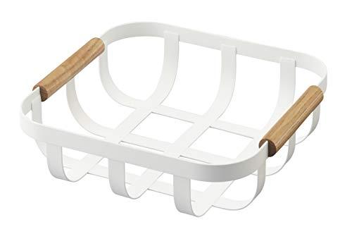 Yamazaki Tosca - Cesta de cocina, madera, color blanco