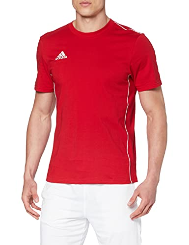 adidas Core 18 Tee T-Shirt Homme Power Red/White FR: 2XL (Taille Fabricant: 2XL)