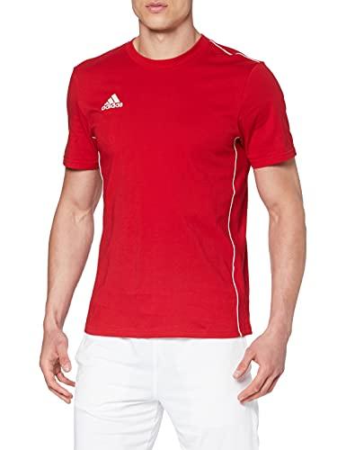adidas Herren CORE18 Tee T-Shirt, Power red/White, M