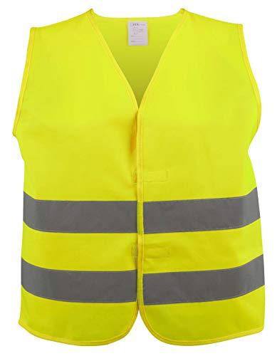 Walser 44043 Sicherheitsweste XXXL gelb, Warnweste, Reflektorweste