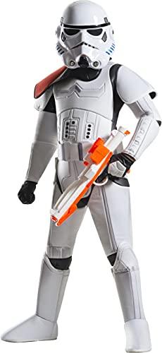 Rubie's Offizielles Kinder-Kostüm Disney Star Wars Super Deluxe Stormtrooper–Größe: M