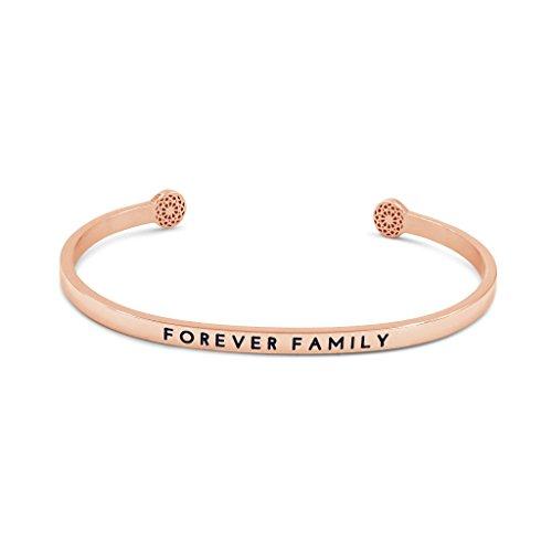 Simple Pledge - Forever Family - Armreif in Roségold mit Gravur für Damen