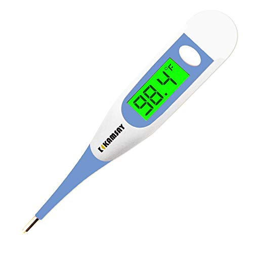 Medical Thermometer for Adults, Digital Oral & Rectal Thermometer for Fever with 10 Seconds Fast Reading
