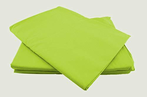 Betttücher ohne Gummizug Baumwolle viele Farben und Größen Bettlaken Betttuch Haustuch (250x240cm, apfelgrün)