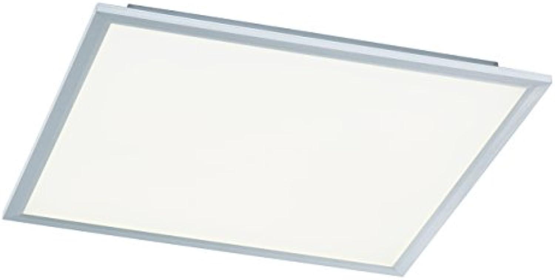 WOFI Deckenleuchte, 1-flammig, Serie Liv, 1 x LED, 44 W, Breite 60 cm, Hhe 5.5 cm, Tiefe 60 cm, Kelvin 6000, Lumen 3400, silber, 9693.01.70.5600