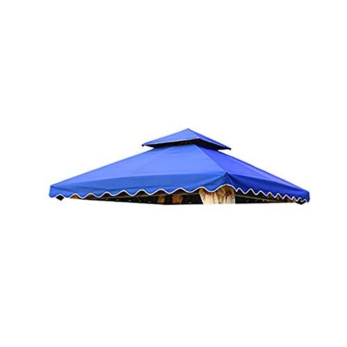 SMSJ-YJ Roman incatramata Umbrella Grill Shelter Sostituzione tettoia Solo Fit for la Sostituzione Gazebo Top Model della Copertura del Panno baldacchino Tenda Ondulate Bordo