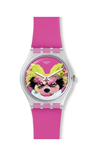 Swatch Reloj Analógico para Unisex Adultos de Cuarzo con Correa en Silicona GE267